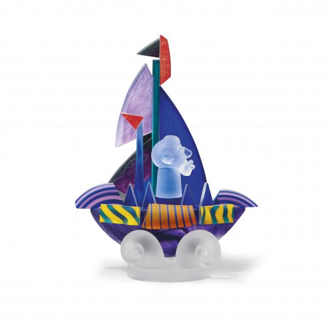 Borowski SAILOR Purple Glass Art-31