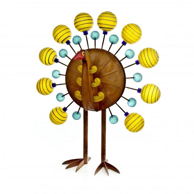 Borowski Outdoor Object Glass Art Yellow PAVO-332