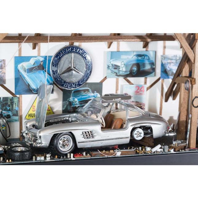 La Ruée Vers Garaje L Classic Mercedes 300SL silver-32