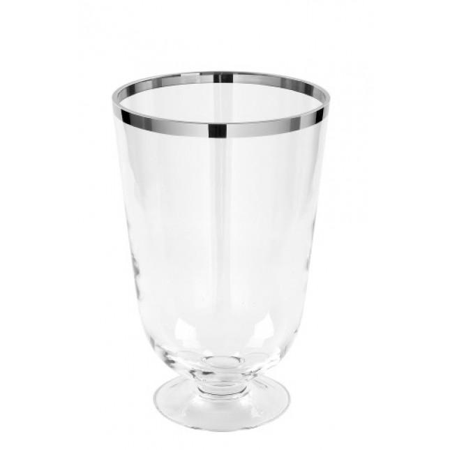 Fink ROYAL Glass Vase with platinum rim-35