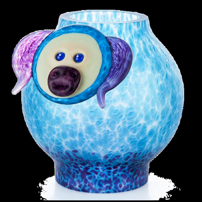 Borowski Vase Glass Art PIG-324