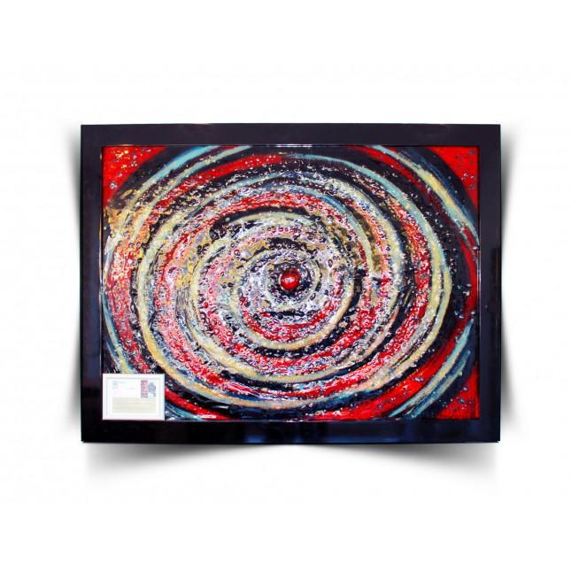 "Piotr Lisowski Glass Art Wall ""Space galactic""-31"