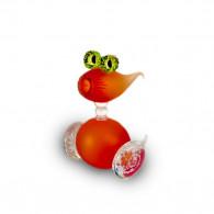 Fernando Agostinho BUBBLE Orange Glass Sculpture-20