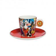 """Romero Britto Porcelain Espresso Cup """"TONIGHT""""-20"""
