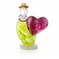 Borowski LOVE MESSENGER Lime-Green Glass Art-20