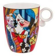 "Romero Britto Porcelain Cup ""TONIGHT""-20"