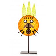 Borowski VIZARD ROUND Amber Glass Art-20