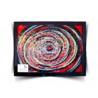 "Piotr Lisowski Glass Art Wall ""Space galactic""-20"