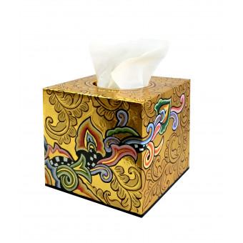 Toms Drag TISSUE BOX Square gold-20
