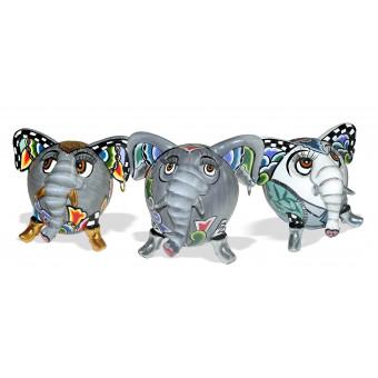 Toms Drag Set of 3 Elephants HATHI-20