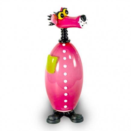 Fernando Agostinho Pink PANTHERE Glass Sculpture-20