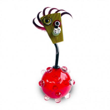 Fernando Agostinho Red BILLES Glass Sculpture-20
