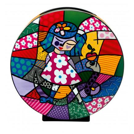 Romero Britto Porcelain Vase GIRL WITH SNAKE-20
