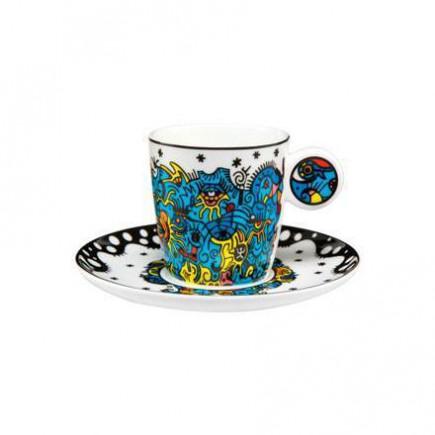 Billy the artist Porcelain Espresso Mug Celebration Deep Sea-20