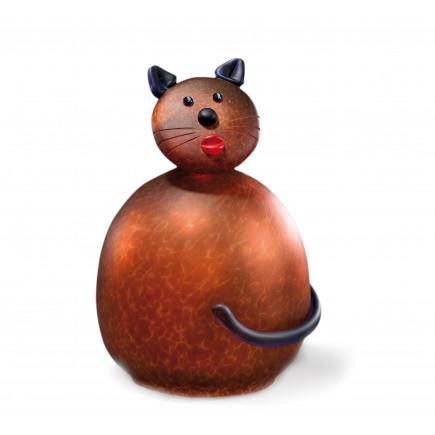 Borowski FAT FILOU Table Lamp Cat Amber Glass Art-20