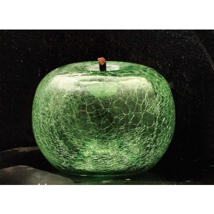 Bull Stein Crackled Emerald Glass Apple XL-20