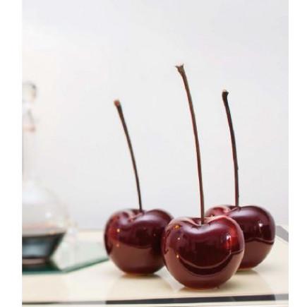 Bull Stein Set 6 middle cherries burgundy porcelain-20