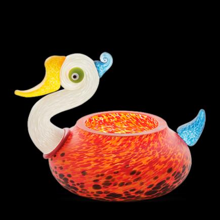 Borowski ROOKIE Vase Glass Art Red orange-20