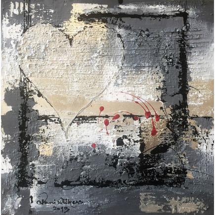 Sekretza Silver heart 2x(40x40cm)-20