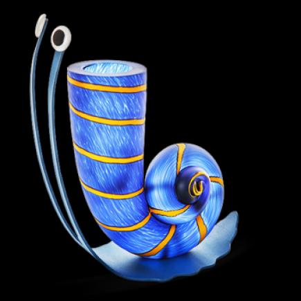 Borowski SLOW JACK Vase Glass Art Blue-20