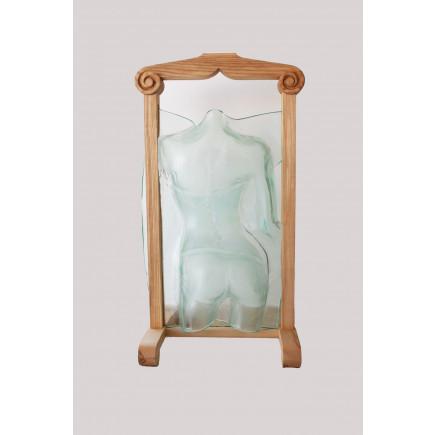 "Piotr Lisowski Glass Art Hanger ""Woman act""-20"