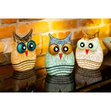 MINI OWL CUCU Paperweight Glass Art