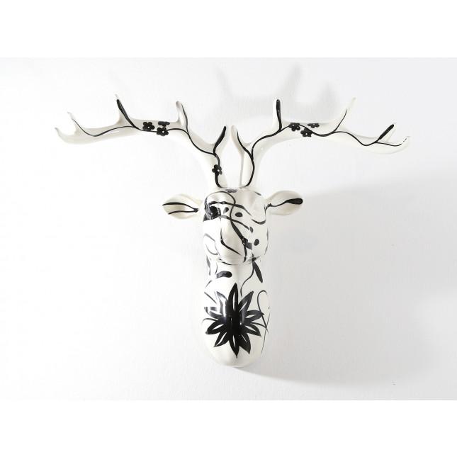 Pomme pidou Figura Ciervo de pared NELSON S Black & White-317