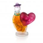 Borowski Escultura de cristal LOVE MESSENGER Ámbar-20