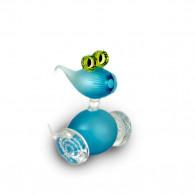 Fernando Agostinho Escultura cristal BUBBLE Azul-20