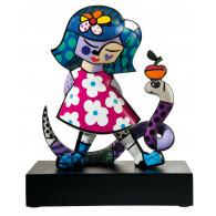 Romero Britto Figura de Porcelana NIÑA CON SERPIENTE-20