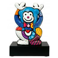 Romero Britto Figura de Porcelana MONO AZUL 33cm-20