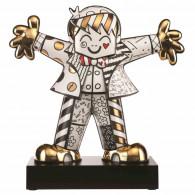 Romero Britto Figura de Porcelana ABRAZO FUERTE Dorado-20