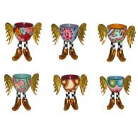 Toms Drag Set de 6 HUEVERAS con alas-20