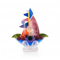 Borowski Escultura de cristal SAILOR Azul-20