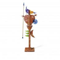 Borowski Escultura de cristal y metal MASSAI WOMAN-20