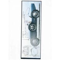 Sekretza Bugatti Type 35 (1927) 3 x (100 x 100 cm)-20