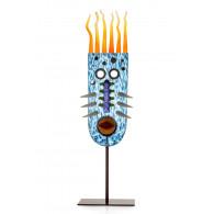 Borowski Escultura de cristal VIZARD OVAL Azul-20