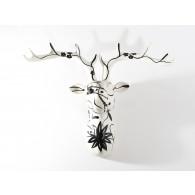 Pomme pidou Figura Ciervo de pared NELSON S Black & White-20