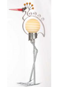 Borowski Lámpara de cristal y metal para exterior HERON Blanco-20