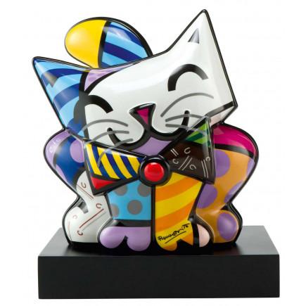 Romero Britto Figura de Porcelana GATO AZUL 27 x 30,5cm-20
