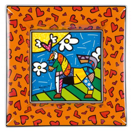 Romero Britto Bol de Porcelana CABALLO DANCER 24x24cm-20