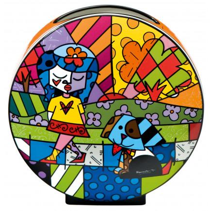 Romero Britto Jarrón de Porcelana MEJOR AMIGO-20