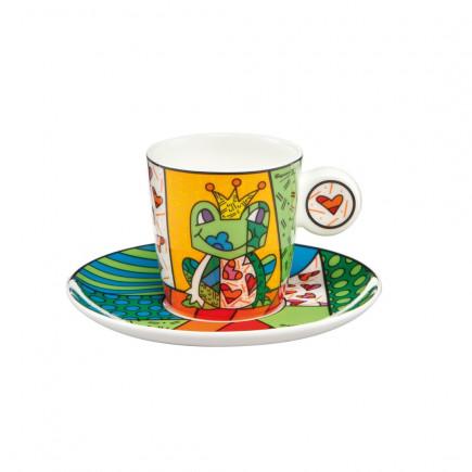 Romero Britto Taza de Porcelana con plato PRINCE-20
