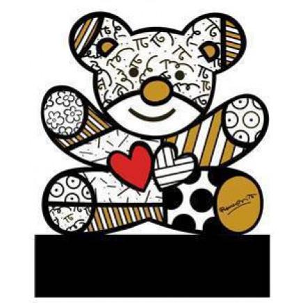 Romero Britto Figura de Porcelana OSO TRULY YOURS Dorado-20