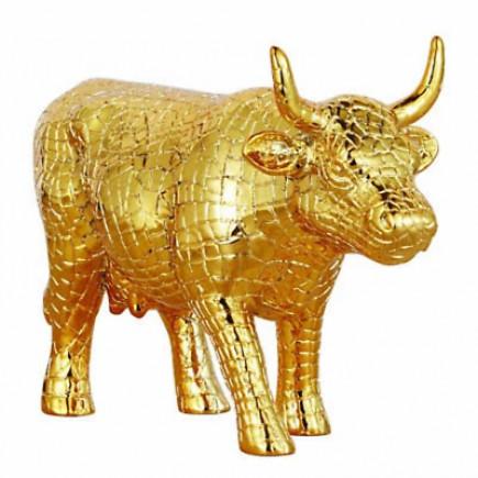 Cow Parade Vaca MIRA MOO GOLD-20
