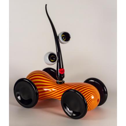 Fernando Agostinho Escultura PSYCO CAR de arte en cristal-20
