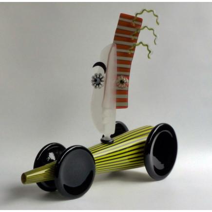 Fernando Agostinho Escultura DRAGSTER de arte en cristal-20