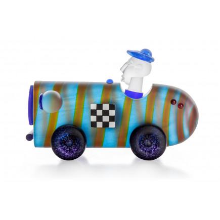 Borowski Escultura de cristal RACER Azul-20
