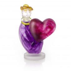 Escultura de cristal LOVE MESSENGER Violeta