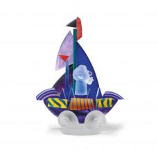 Escultura de cristal SAILOR Violeta
